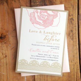 Ruffled Romance Rehearsal Dinner Invitations By Beacon Lane