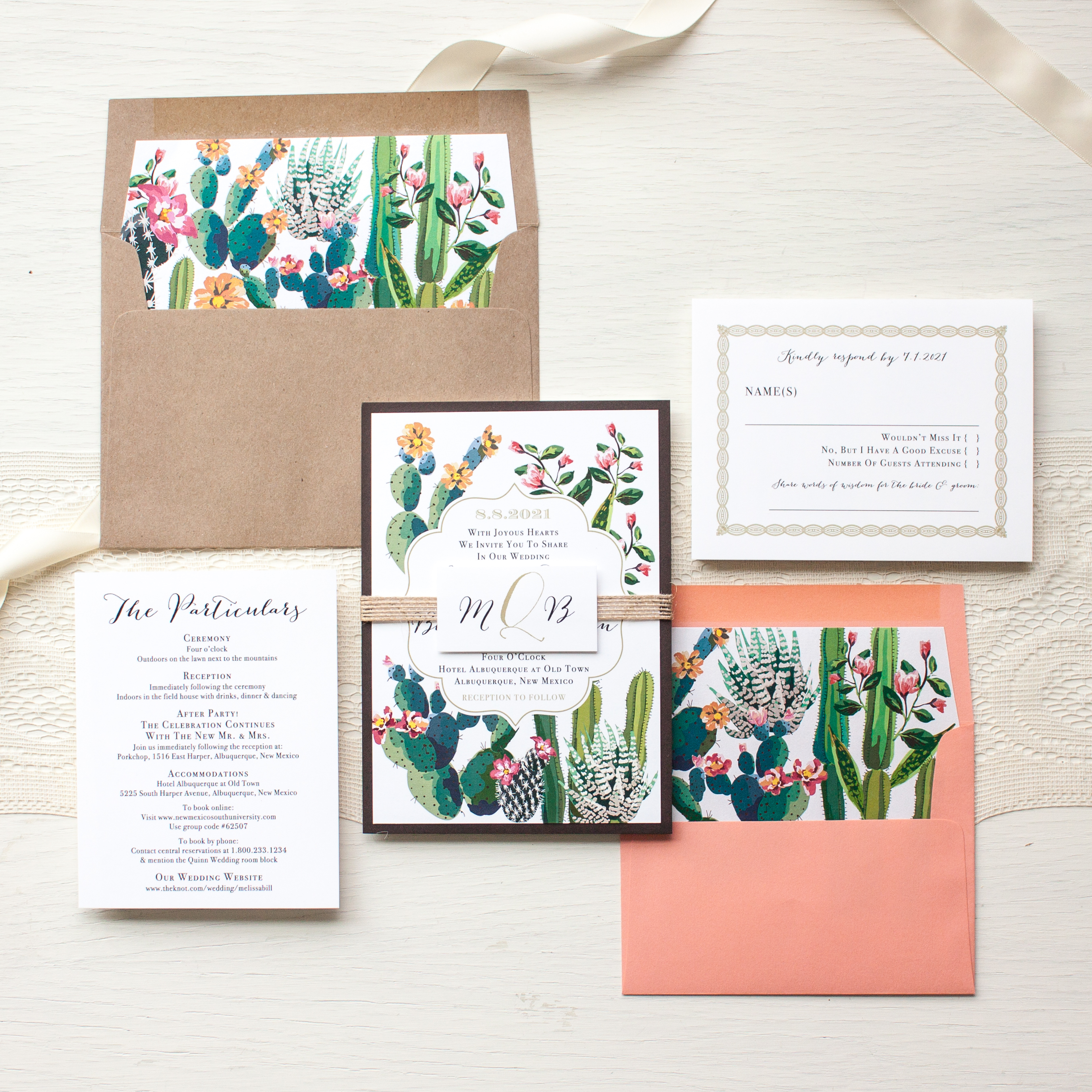 Desert Love Wedding Invitations Beacon Lane