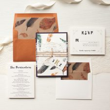 Feather Boho Wedding Invitations