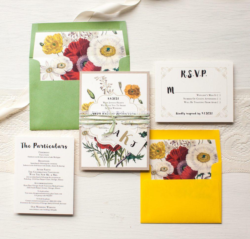 Garden Mix Wedding Invitations | Beacon Lane