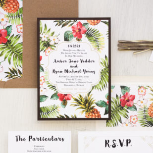 Pineapple Paradise Wedding Invitations