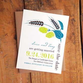 Hops Love Brewery Save the Dates by Beacon Lane