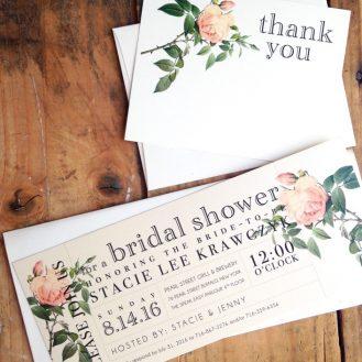 Floral Boho Bridal Shower Invitations by Beacon Lane
