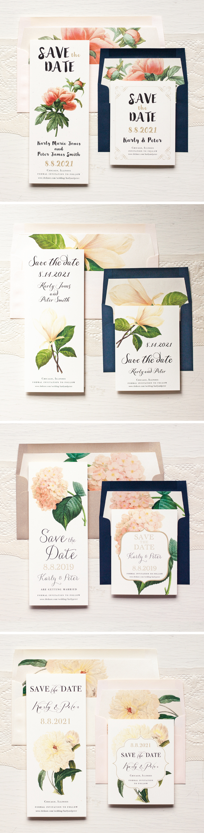 Classic Floral Save The Dates