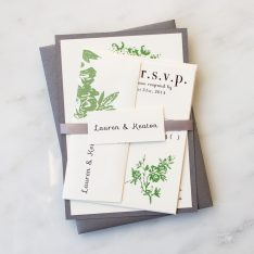 All White Wedding Invitations | Real Client Wedding Customizations