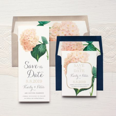 Blush Hydrangea Save The Dates