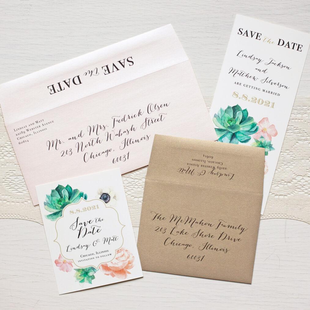 Succulent Envelope Liners