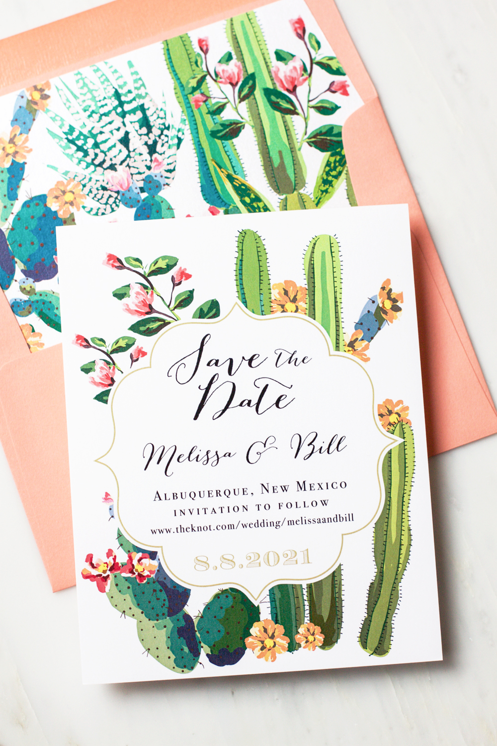 How Long Before A Wedding Do You Send Out Invitations: Desert Love Save The Dates