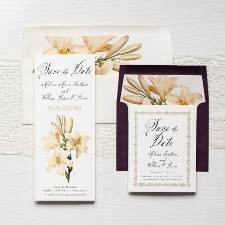 Elegant Garden Save the Dates by Beacon Lane