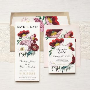 Floral Boho Save the Dates