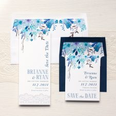 Indigo Blue Save the Dates by Beacon Lane