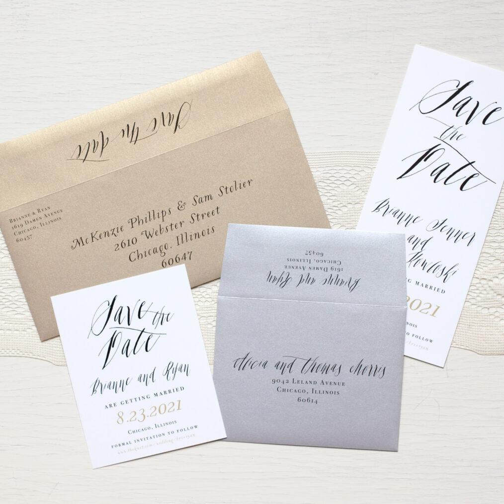 Modern Boho Calligraphy Envelopes
