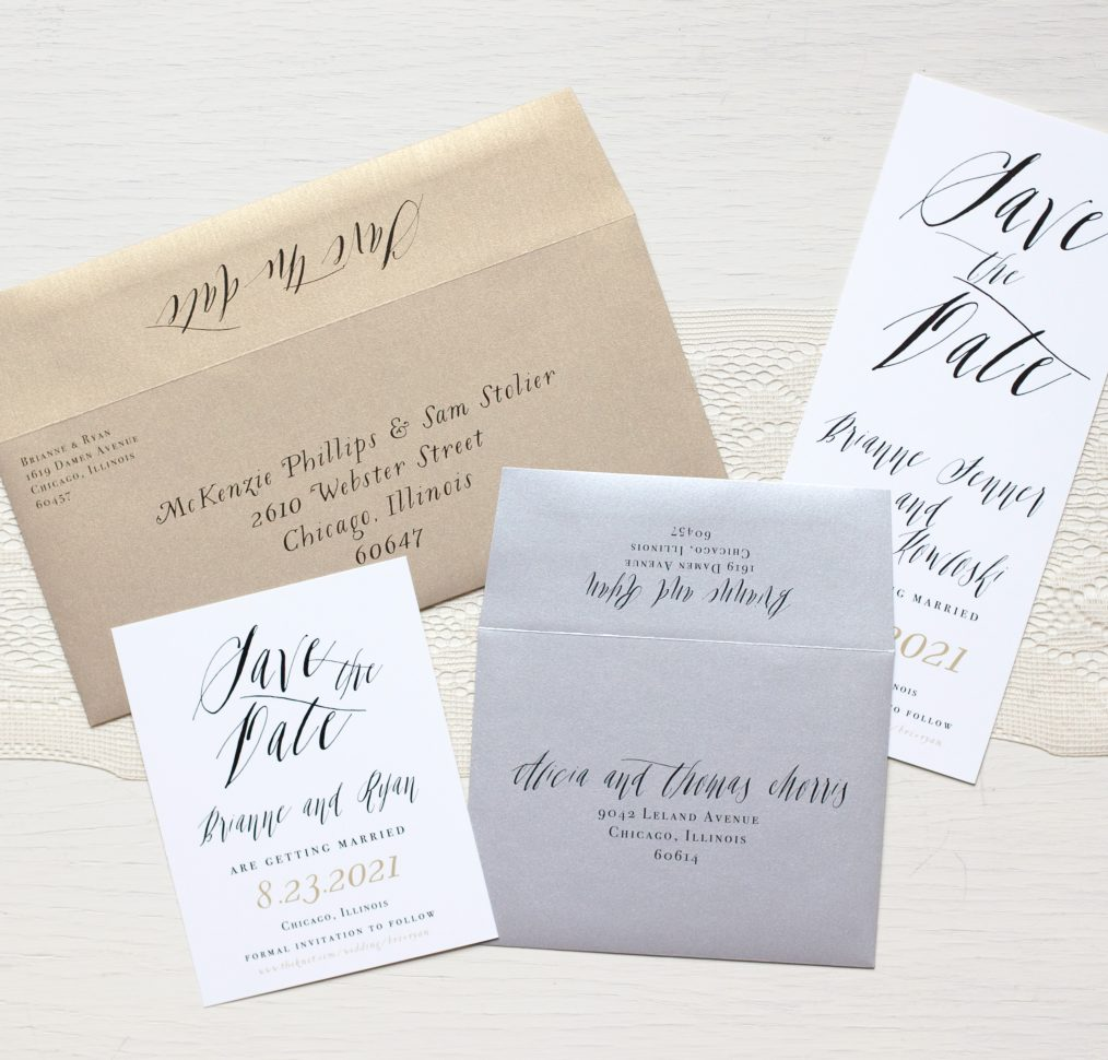 Modern Boho Calligraphy Envelopes