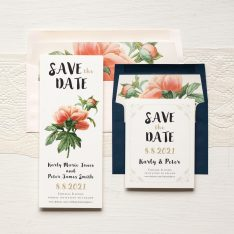 Pastel Peony Save the Dates by Beacon Lane