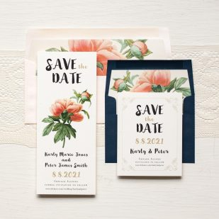 Pastel Peony Save the Dates