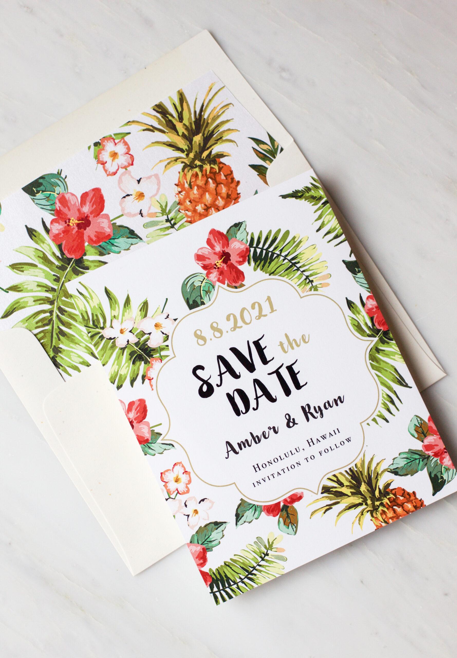 Pineapple Paradise Envelope Liners