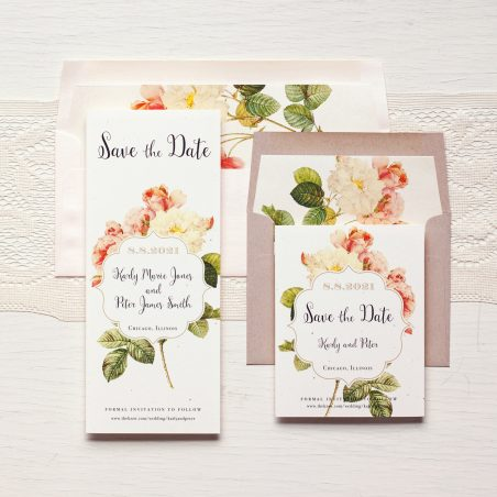 Rustic Garden Chic Save the Dates by Beacon Lane