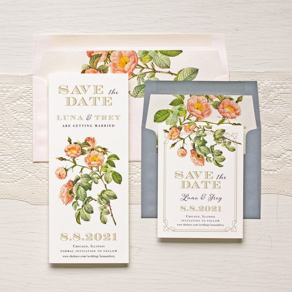 Shabby Rose Save the Dates by Beacon Lane