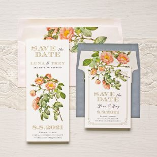 Shabby Rose Save the Dates