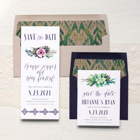 Succulent Script Boho Save The Dates By Beacon Lane