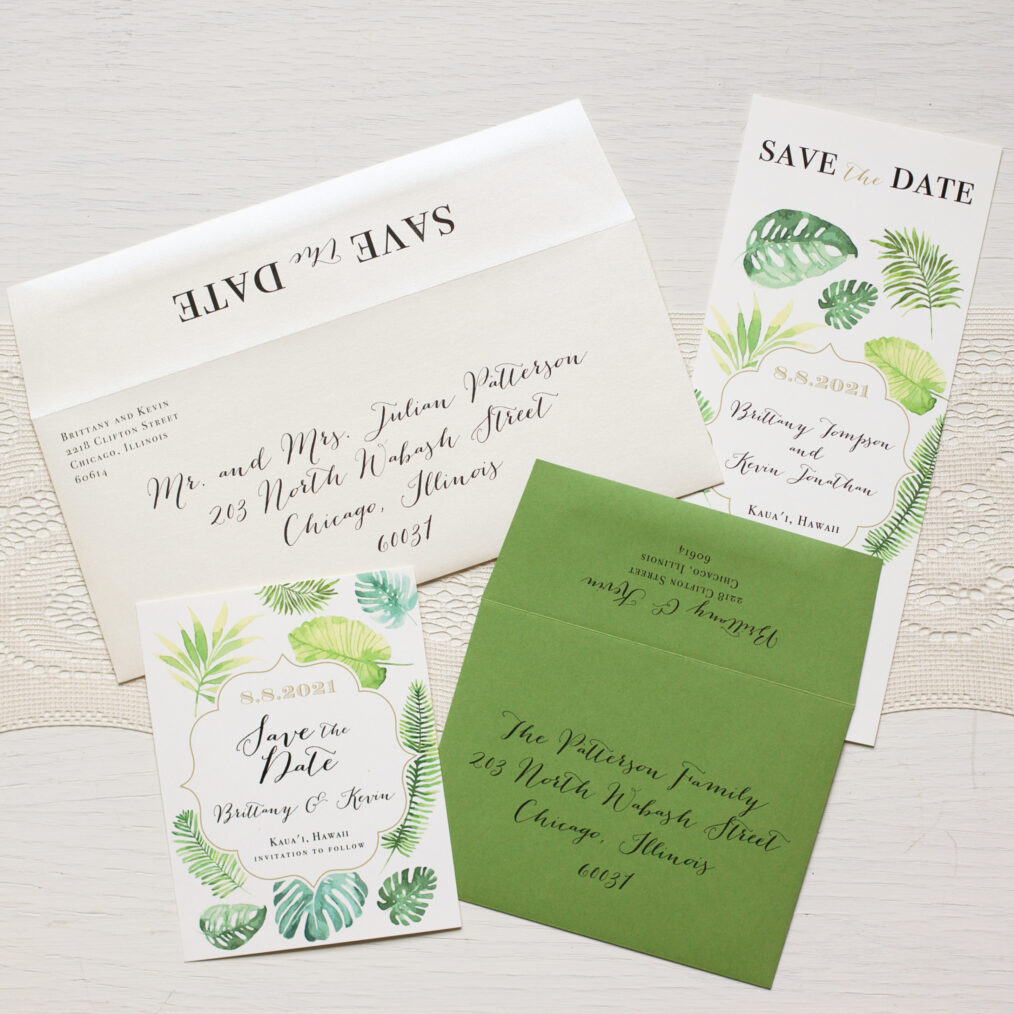 Tropical Floral Envelope Liners
