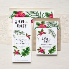 Tropical Love Save the Dates by BeaconLane