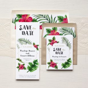 Tropical Love Save the Dates