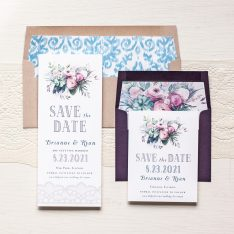 Watercolor Rose Save the Dates by Beacon Lane