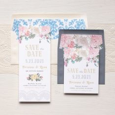 Whimsy Garden Save the Dates by Beacon Lane