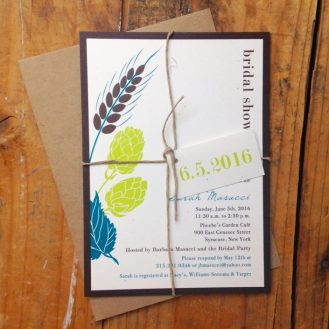 Hops Love Wedding Invitations by Beacon Lane