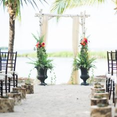 Romantic Vintage Beach Wedding