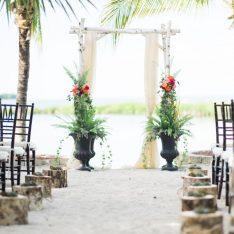 Romantic Vintage Beach Wedding