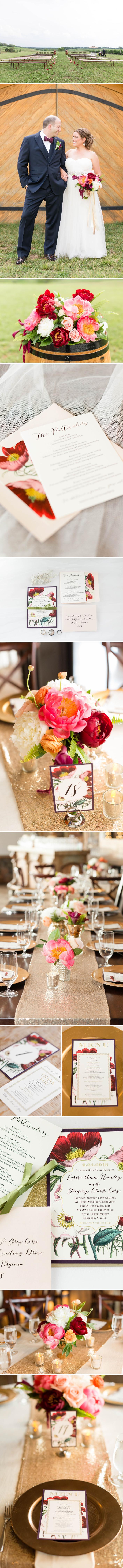 Jewel Tone Boho Glam Wedding