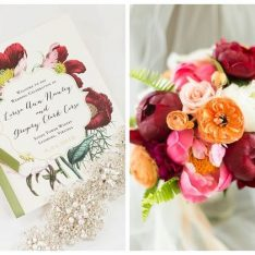 Jewel Tone Winery Wedding With Boho Glam