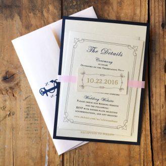 Nautical Bliss Wedding Invitation by Beacon Lane