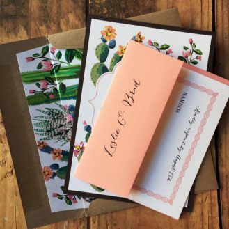 Desert Love Wedding Invitation by Beacon Lane