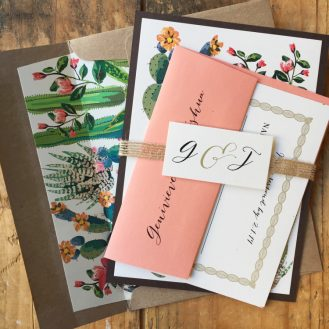 Desert Love Wedding Invitations by Beacon Lane