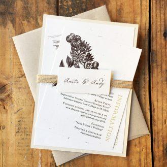 Farm Chic Wedding Invitation by Beacon Lane