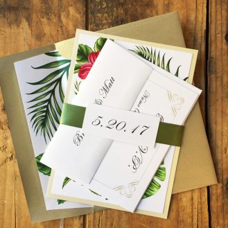 Tropical Love Wedding Invitation by Beacon Lane