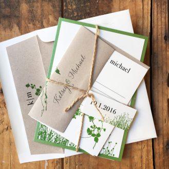 Modern Garden Wedding Invitation by Beacon Lane