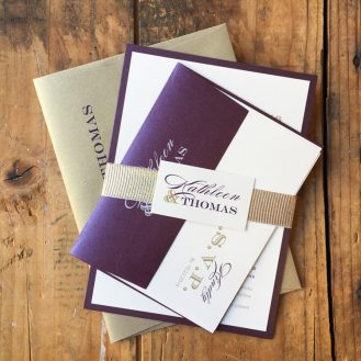 Classic Elegance Wedding Invitation by Beacon Lane