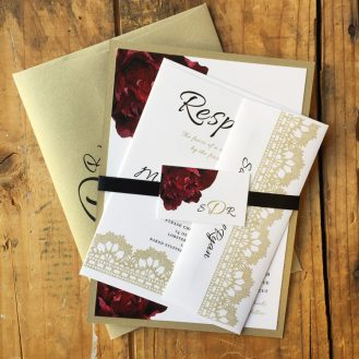 Modern Boho Wedding Invitation by Beacon Lane