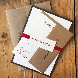 Love Cycle Wedding Invitation by Beacon Lane