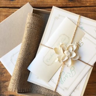 Custom Boxed Wedding Invitation By Beacon Lane