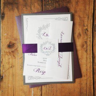 Classic Love Wedding Invitation by Beacon Lane