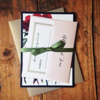 Floral Boho Wedding Invitation by Beacon Lane