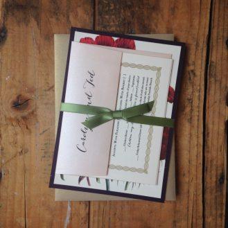 Floral Boho Wedding Invitations by Beacon Lane