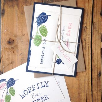 Hops Love Wedding Invitation by Beacon Lane