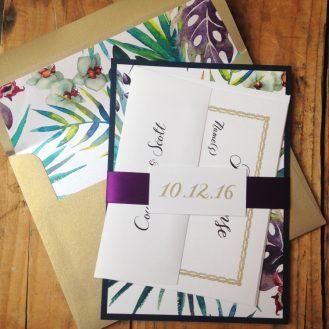 Jewel Tone Tropics Wedding Invitation by Beacon Lane