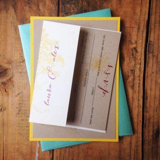 Wildflower Boho Wedding Invitation by Beacon Lane